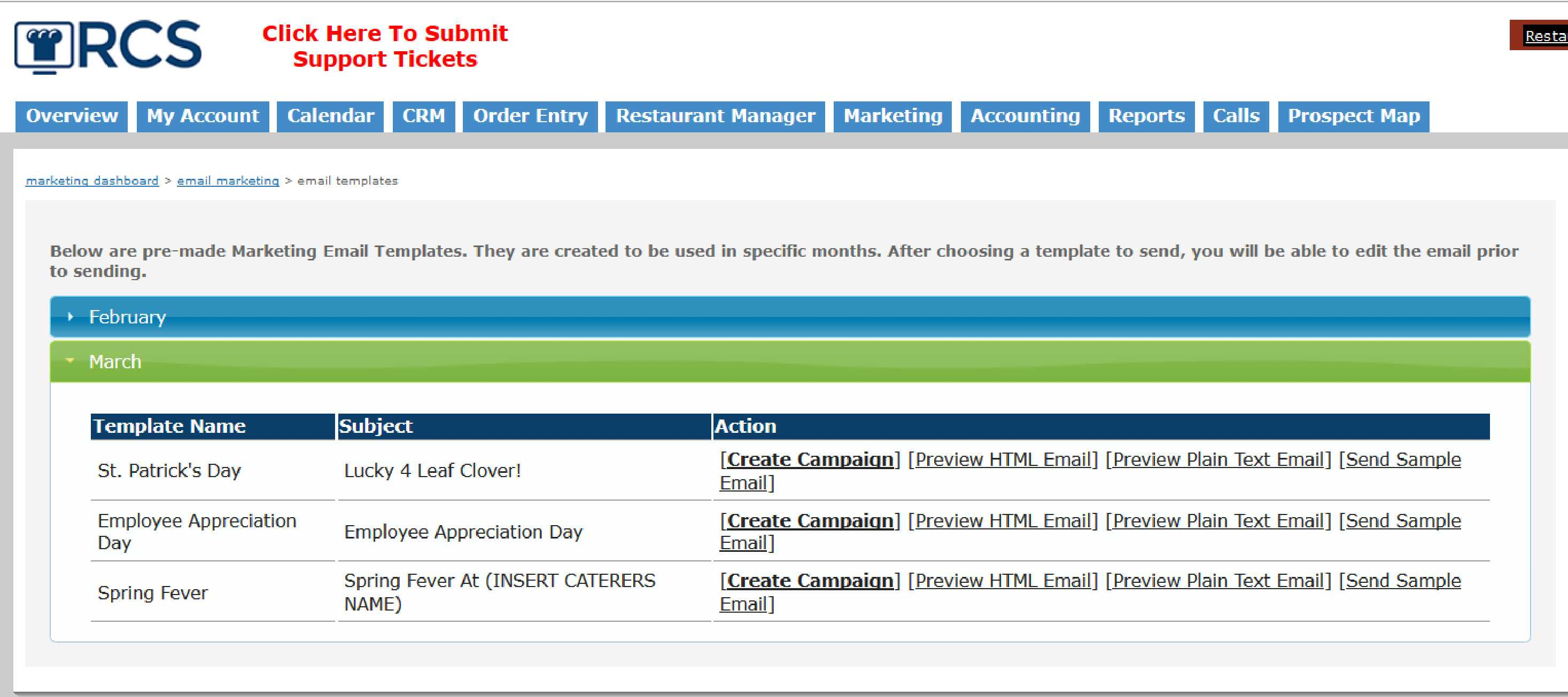 Email Templates Now In Catering Software