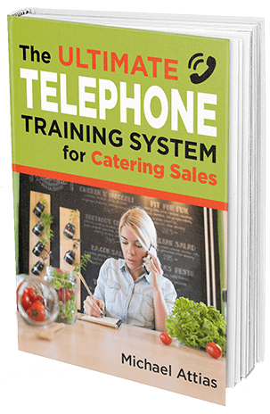 telephone training system for catering sales