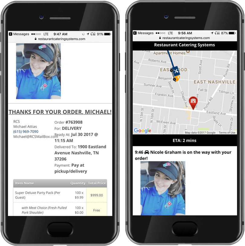 catering delivery driver app