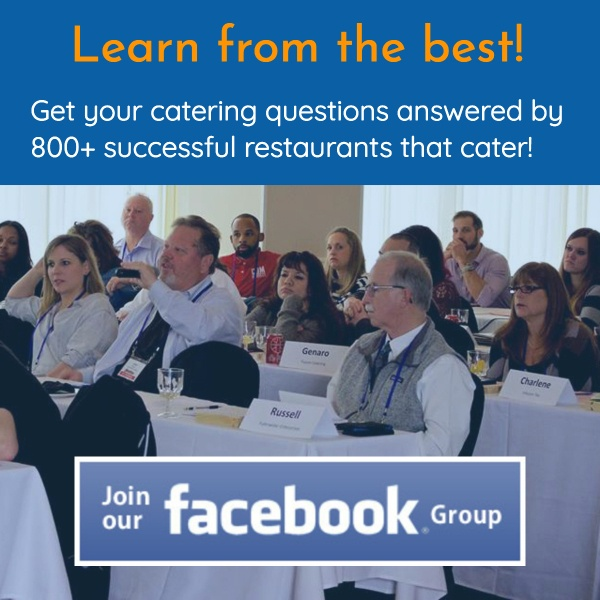 facebook group catering sales