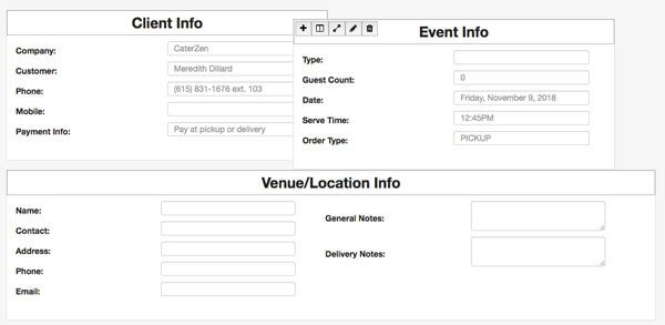 beo software and templates for caterers caterzen