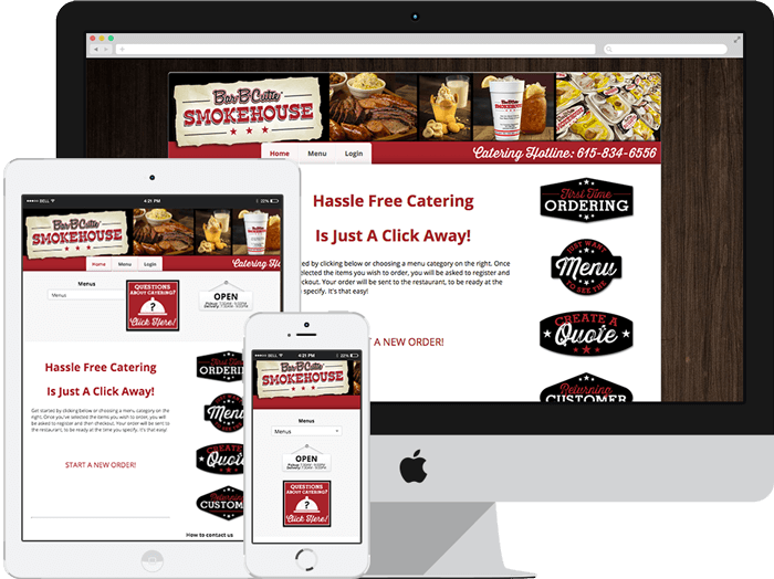 online ordering catering